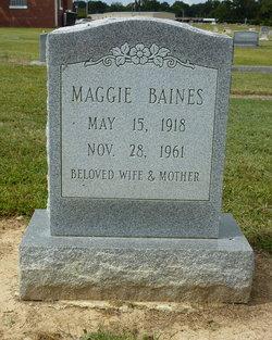 Mrs Maggie Barnes <i>Bunn</i> Baines