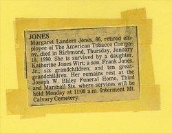 Margaret T. <i>Landers</i> Jones