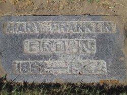 Mary Ann <i>Franklin</i> Brown