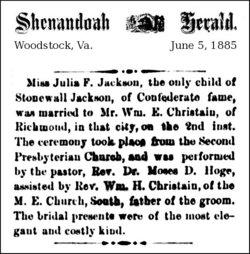 Julia <i>Jackson</i> Christian