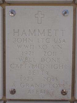 John W Bill Hammett, Sr