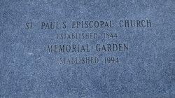 Saint Paul's Memorial Garden