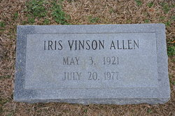 Iris <i>Vinson</i> Allen