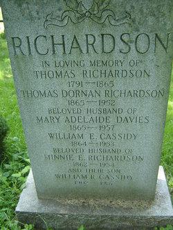 Minnie E. <i>Richardson</i> Cassidy