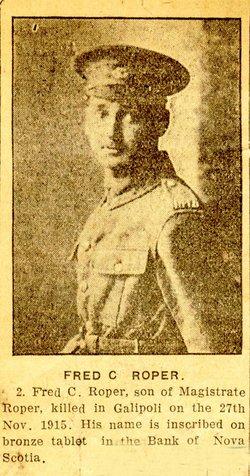 Pvt Frederick Charles Roper