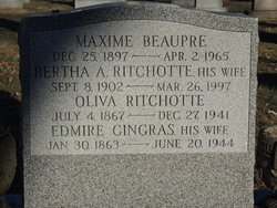 Bertha A. <i>Ritchotte</i> Beaupre
