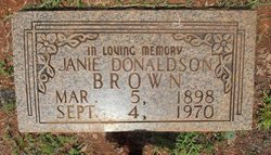 Janie <i>Donaldson</i> Brown