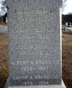 Sarah Augusta Gussie <i>Hooper</i> Brunelle