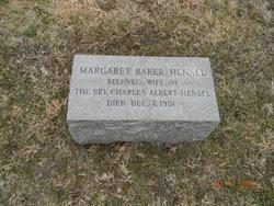 Margaret <i>Baker</i> Hensel