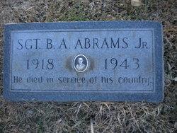 Sgt Benjamin A Abrams, Jr