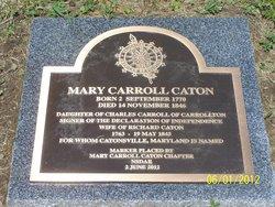 Mary <i>Carroll</i> Caton