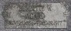 Burdette W Agard