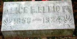 Alice E. <i>Weddle</i> Elliott