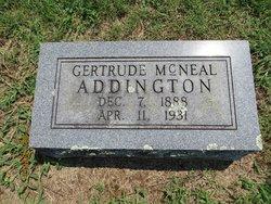 Gertrude <i>McNeal</i> Addington