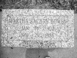 Martha Augusta <i>Zachry</i> Bowen