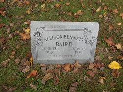 Allison <i>Bennett</i> Baird