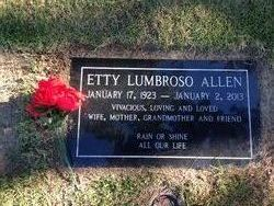 Henrietta Etty <i>Lumbroso</i> Allen