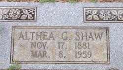 Althea Geneva <i>Carroll</i> Shaw