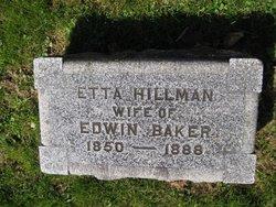 Etta M <i>Hillman</i> Baker