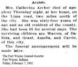 Catherine Amelia <i>King</i> Archer