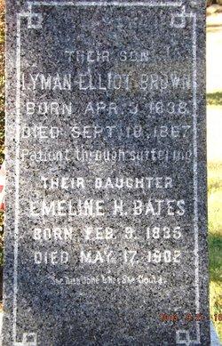 Emeline H <i>Brown</i> Bates