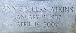 Ann Charlotte <i>Sellers</i> Atkins
