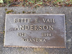 Betty E <i>Vail</i> Anderson