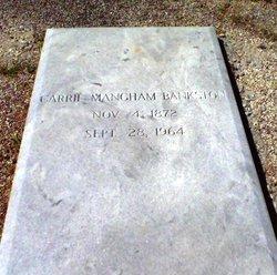 Carrie Temperance <i>Mangham</i> Bankston