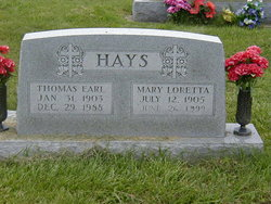 Mary Loretta <i>Pike</i> Hays