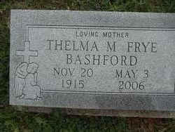 Thelma Mae <i>Frye</i> Bashford