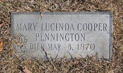 Mary Lucinda <i>Cooper</i> Pennington