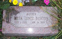 Meta <i>Lentz</i> Burton