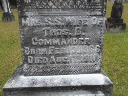 Sarah S. <i>Maddox</i> Commander