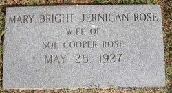 Mary Bright <i>Jernigan</i> Rose
