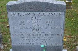 Capt James Alexander Rice