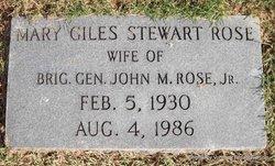 Mary Giles <i>Stewart</i> Rose
