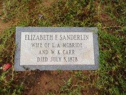 Elizabeth Frances <i>Sanderlin</i> McBride Carr