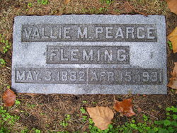 Vallie M <i>Pearce</i> Fleming