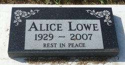 Alice <i>Fisher</i> Lowe