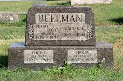 Bessie <i>Davis</i> Beekman