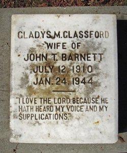 Gladys Marie <i>Glassford</i> Barnett