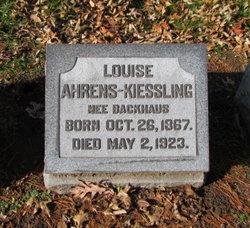 Louise <i>Backhaus</i> Ahrens-Kiessling
