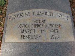 Kathryne Elizabeth <i>Wiley</i> Alfriend