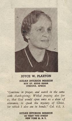 Joyce Winifred Plaxton
