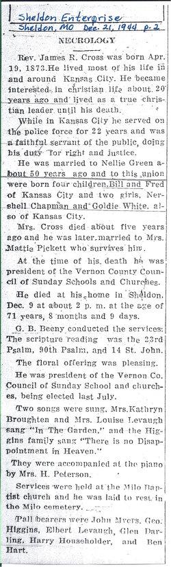 Rev James Richard Cross