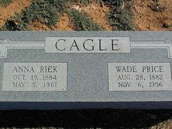 Anna Emily <i>Riek</i> Cagle