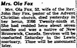 Ola <i>Beardsley</i> Fox