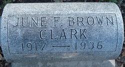 June Francis <i>Brown</i> Clark