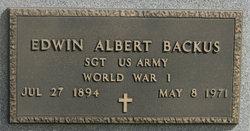 Edwin Albert Backus