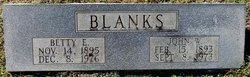 Betty E. <i>---</i> Blanks